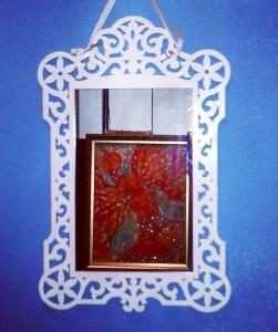Резная деревянная рамка для зеркала