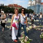 С флористом Еленой Прокофьевой. Поддержка в организации со стороны Праги.