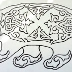 медведь в татарском орнаменте