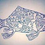 рыба в татарском орнаменте