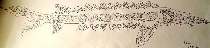 щука в татарском орнаменте