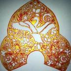 Кокошник в стиле хохломской росписи