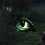 Горящие глаза кота в ночи